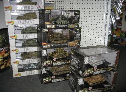 Performance Hobbies, Webster, New York, diecast millitary tanks