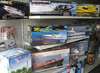 Performance Hobbies, remote control motor boats and sailboats